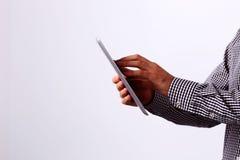 Man using tablet computer Royalty Free Stock Photos