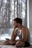 Man using a tablet Stock Photos