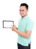 Man using tablet pc Royalty Free Stock Image