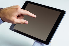 Man using a tablet pc Stock Photography