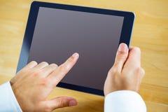 Man using a tablet pc Stock Photos
