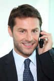 Man using a telephone Royalty Free Stock Photography