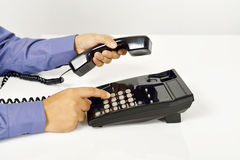 Man Using A Telephone Stock Photography