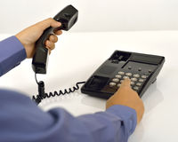 Man Using A Telephone Stock Images