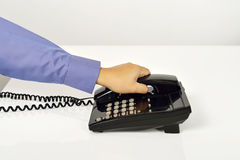 Man Using A Telephone Stock Photos