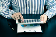 Man using touchpad on his work.communication,technology Stock Image