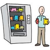 Man Using Vending Machine Stock Photos