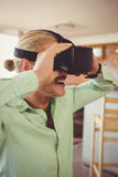 Man using virtual glasses Royalty Free Stock Photos