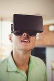 Man using virtual glasses Royalty Free Stock Photography
