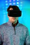 Man Using Virtual Reality Glassess royalty free stock images