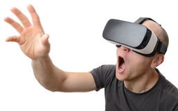 Man using Vr headset Royalty Free Stock Images