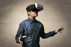 Man using vr Stock Images