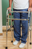 Man using a walker Stock Photography