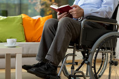 Man using wheelchair Royalty Free Stock Images