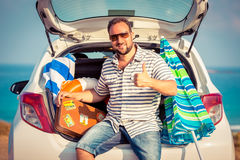 Man on vacation Stock Photos
