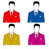 Man in varicoloured suit Stock Photography