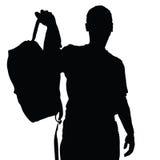 Man vector silhouette recreation vector Stock Photography