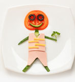 Man from vegetables Royalty Free Stock Photography