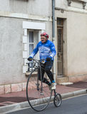Man on a Velociped - Paris-Nice 2016 Stock Image