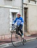 Man on a Velociped - Paris-Nice 2016 Stock Image