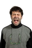 Man vents his anger Stock Images