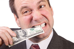 Man verification money Royalty Free Stock Images