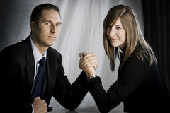 Man versus Vrouw Stock Fotografie