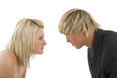 Man versus woman. Royalty Free Stock Photography