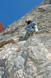 Man on via ferrata Stock Images
