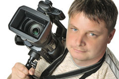 The man with a videocamera Royalty Free Stock Photos