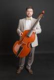 Man with a viola da gamba Stock Image