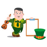The man with a violin. Patrick s Day Royalty Free Stock Photo