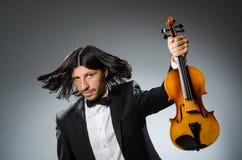 Man violin player Royalty Free Stock Photo