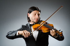Man violin player Stock Photos