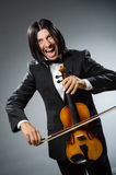 Man violin player Royalty Free Stock Photo