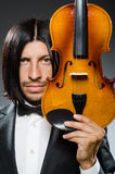Man violin player Royalty Free Stock Photography