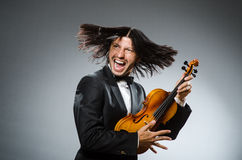 Man violin player Royalty Free Stock Photos