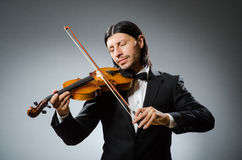 Man violin player Stock Image
