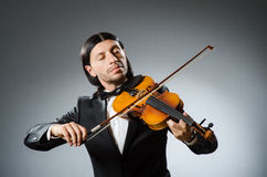 Man violin player Stock Photography