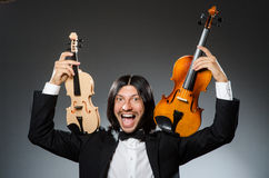 Man violin player Stock Images