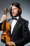 Man violin player Stock Photo
