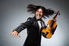 Man violin player Royalty Free Stock Image