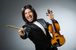 Man violin player in musican Stock Images