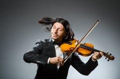 Man violin player Royalty Free Stock Image