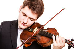 Man violinist playing violin. Classical music art stock images