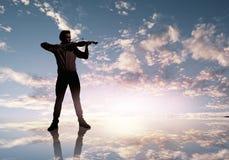 Man violinist Stock Photo
