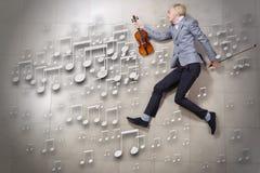 Man violinist Stock Photography