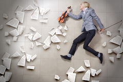 Man violinist Stock Photo