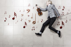 Man violinist Royalty Free Stock Photography