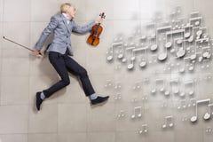 Man violinist Stock Image